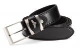Business Herren Gürtel in schwarz, Gürtelbreite 3,7 cm bis XXXL 140-165 cm
